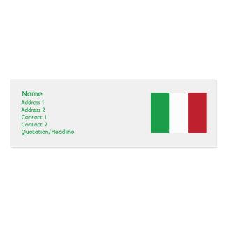 Italia - flaca plantilla de tarjeta de negocio