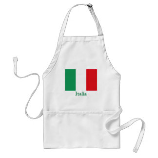 Italia Flag Adult Apron