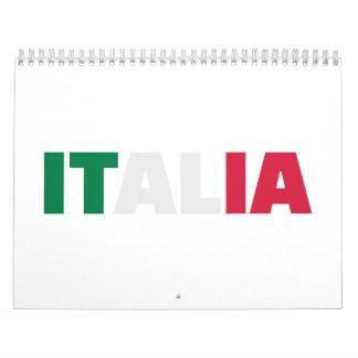Italia flag calendar