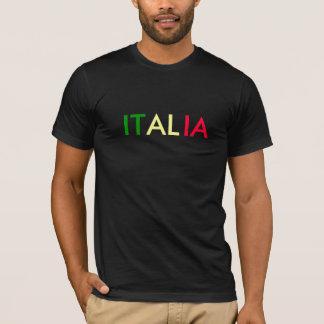 ITALIA Flag Color Design T-Shirt