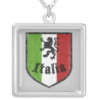 Italia Flag Crest Necklace