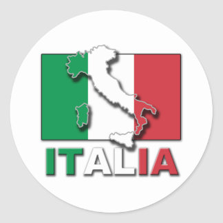 Italia Flag Land Classic Round Sticker