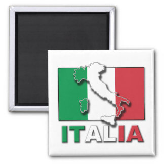 Italia Flag Land Magnet