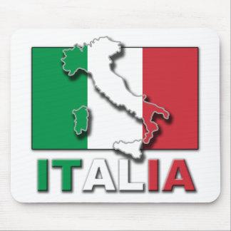Italia Flag Land Mouse Pad