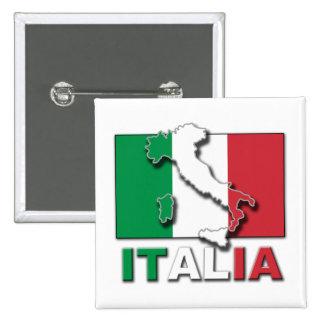 Italia Flag Land Pinback Button