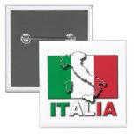 Italia Flag Land Pins
