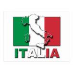 Italia Flag Land Post Cards