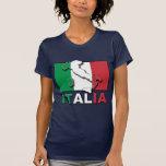 Italia Flag Land T Shirts