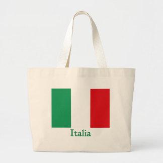 Italia Flag Large Tote Bag