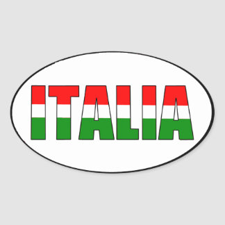 Italia Flag of Italy Oval Sticker