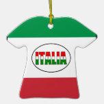 Italia-Flag of Italy-T-Shirt Ornaments