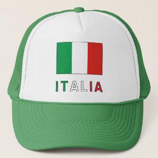 Italia Flag & Word Trucker Hat