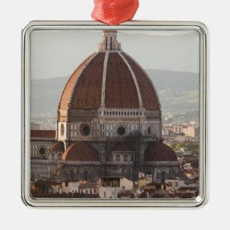 Italia, Florencia, bóveda de la catedral del Duomo Adorno Cuadrado Plateado