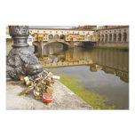 Italia, Florencia, cerraduras del amor y reflexion Arte Fotográfico