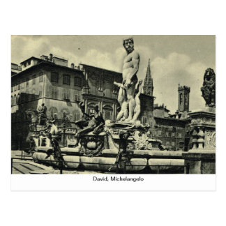 Italia, Florencia, Firenze, 1908, David, Miguel Postal