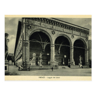 Italia, Florencia, Firenze, 1908, dei Lanzi de la  Postal