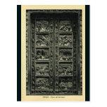 Italia, Florencia, Firenze, 1908, puertas de Bapis Postales