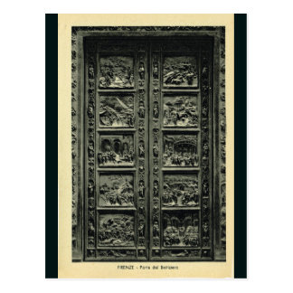 Italia, Florencia, Firenze, 1908, puertas de Tarjeta Postal