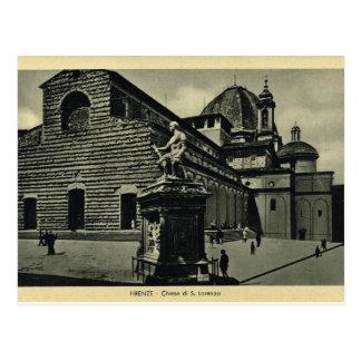 Italia, Florencia, Firenze, 1908, S.Lorenzo Tarjeta Postal