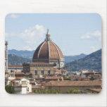 Italia, Florencia, paisaje urbano con el Duomo Alfombrillas De Ratón