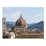 Italia, Florencia, paisaje urbano con el Duomo Postales