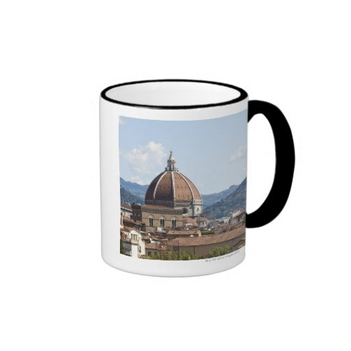 Italia, Florencia, paisaje urbano con el Duomo Taza De Dos Colores