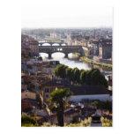 Italia, Florencia, Ponte Vecchio y el río Arno Tarjetas Postales