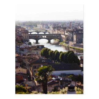 Italia Florencia Ponte Vecchio y el río Arno Tarjetas Postales