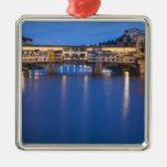 Italia, Florencia, reflexiones de la noche en Ornaments Para Arbol De Navidad