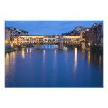 Italia, Florencia, reflexiones de la noche en Impresión Fotográfica