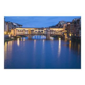 Italia, Florencia, reflexiones de la noche en Fotografía