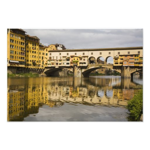 Italia, Florencia, reflexiones en el río Arno Impresiones Fotográficas