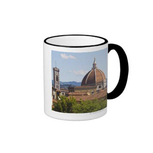 Italia, Florencia, vista de la catedral de Florenc Tazas