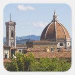 Italia, Florencia, vista de la catedral de Pegatina Cuadrada