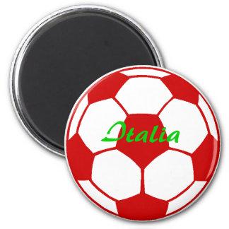 Italia football 2 inch round magnet