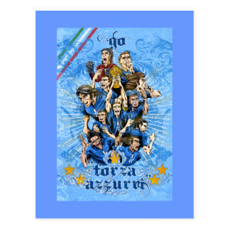 Italia Fora Azzurri gfits and shirts by Alejandro Postcard