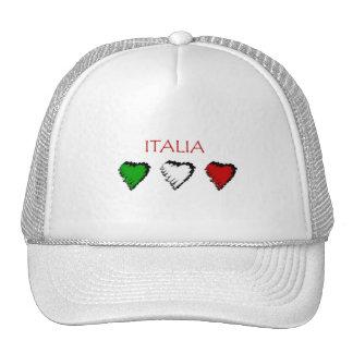 Italia hearts flag of Italy Italian love Trucker Hat