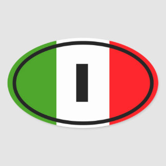 Italia - I - europeo Pegatina Ovalada
