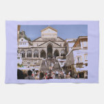 Italia, iglesia en la costa de Amalfi Toalla De Mano