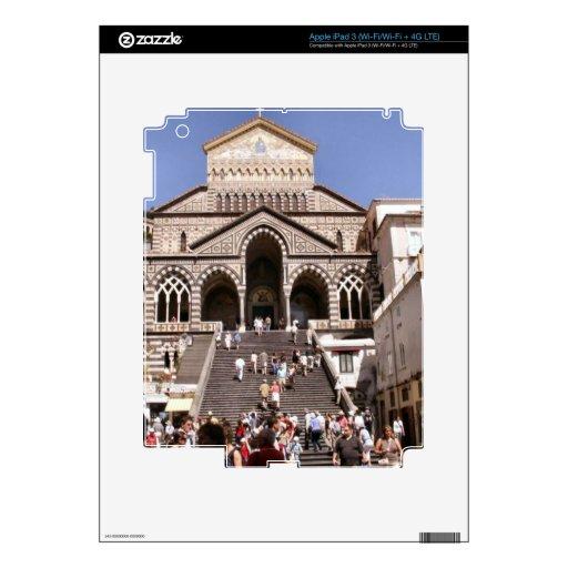 Italia, iglesia en la costa de Amalfi Pegatina Skin Para iPad 3