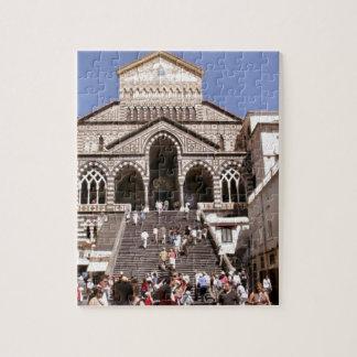 Italia, iglesia en la costa de Amalfi Puzzle Con Fotos