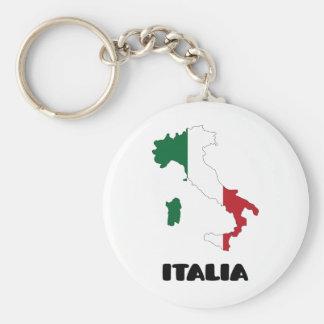 Italia/Italia Llavero Redondo Tipo Pin