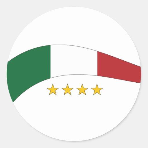 Italia/Italia Pegatina Redonda