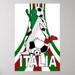 Italia Italia, posters del fútbol del fútbol del c