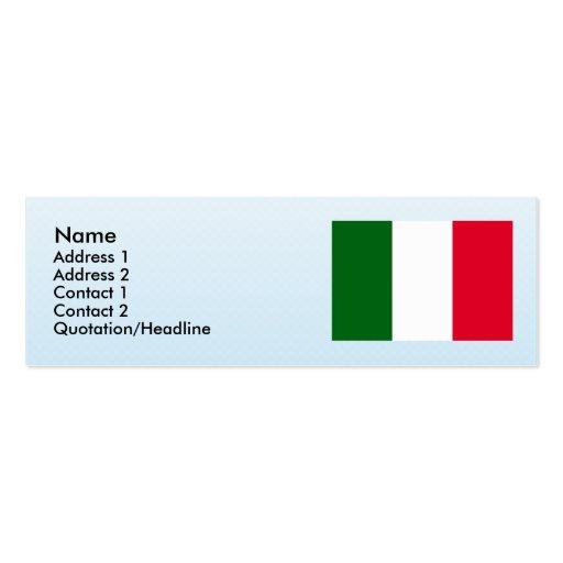 Italia, Italia Tarjetas De Visita Mini