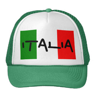Italia Italian Flag Green White Red Hat