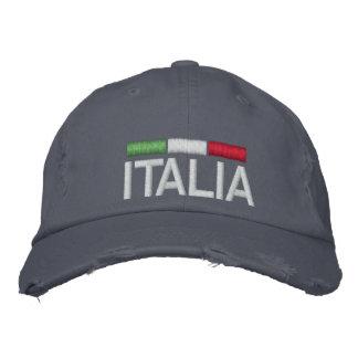 ITALIA Italy Embroidered Distressed Baseball Cap
