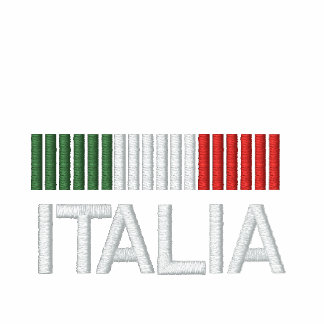 Italia Italy Embroidered fleece jogger jacket