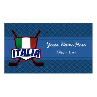 Italia Italy Hockey Shield Custom Business Cards