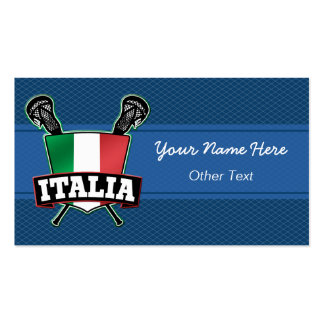 Italia Italy Lacrosse Customizable Business Cards